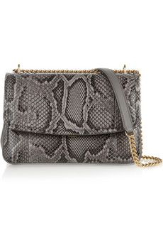Dolce & Gabbana Margarita python and leather shoulder bag | NET-A-PORTER
