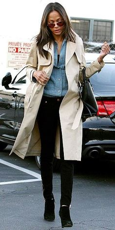 Zoe Saldana... - Celebrity Street Style