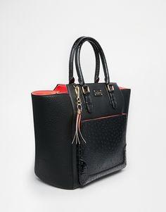 Pauls Boutique | Pauls Boutique Melissa Tote Bag With Ostrich Trim at ASOS