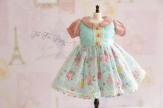 Blythe Blue Pink Floral Dress Blythe outfit by TeaForParty on Etsy