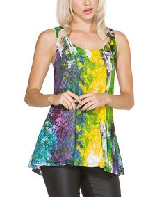 Look at this Yellow & Purple Abstract Reversible Tank on #zulily today!