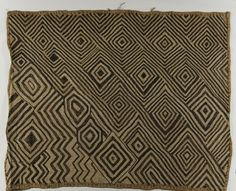 Africa | Kuba people, DR of Congo | Design panel (bwiin) | Raffia palm fiber and unidentified pigment dye |  h. 45.6 cm., w. 37.0 cm. (17 15/16 x 14 9/16 in.)
