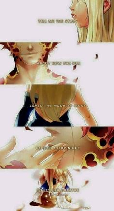 Tell me the story about how the sun loved the moon so much he died every night to let her breathe. Nalu
