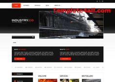 Grunge Responsive Red Black Business Joomla Theme #joomla #responsive  #webdesign