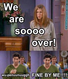 Friends: Ross and Rachel break up