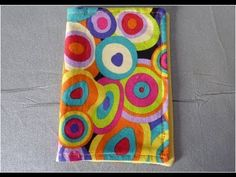 Really easy way to make a fabric book cover.