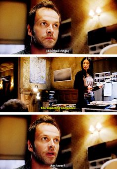 """Am I ever?""  (Jonny Lee Miller and Lucy Liu as Sherlock Holmes and Joan Watson in CBS's hit series ""Elementary"")"