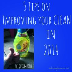 Cleaning resolutions: I NEED TO MAKE A CLEANING SCHEDULE! #LiquidMuscle #ad