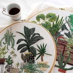 Such amazing embroideries by Sarah Benning