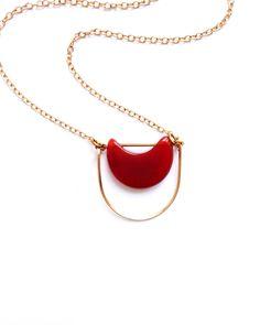 Carnelian Eclipse Necklace