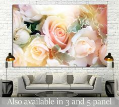 Modern wall art 'BEAUTIFUL FLOWERS "
