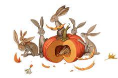 "Illustrations for children book ""Spry Fox"" by Maryana Kniazevych."
