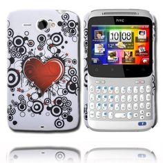 Valentine (Rött Hjärta - Svarta Cirklar) HTC ChaCha-Skal