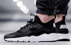 Nike Air Huarache Run Ultra Black & White #sneakers #sneakernews