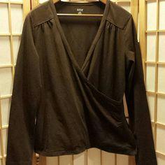 a.n.a top XL Chocolate brown  96 cotton 4 spandex a.n.a Tops Tees - Long Sleeve