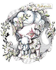 Spring Kitty MouthSpring Girl PortraitPinkytoast Art by pinkytoast