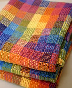 Crackle weave--from eye candy--beautiful colors!