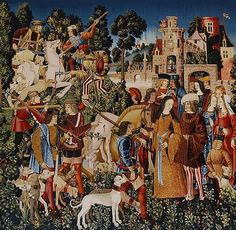 """The Unicorn is Killed and Brought to the Castle"" Cloisters Museum, 1495-1505…"