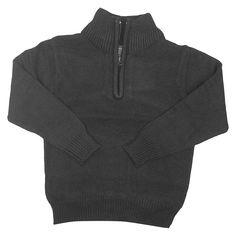 Eddie Bauer Boys' Half Zip Sweater 10-12 - Heather Ebony, Boy's