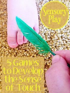 5 fun games for developing the sense of touch. Great ideas to use with babies (fabulous for bonding), toddlers and preschoolers.