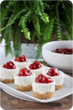 No Bake Cheesecakes - <3 seeing these stand alone cakes; I do like the ones in jars too but rather miss this classic version :)