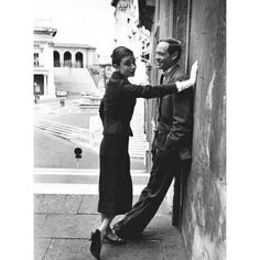 Audrey Hepburn photographed with her husband Mel Ferrer in Rome Italy. Photo by Sanford Roth March 1958. #audreyhepburn #melferrer #rome by rareaudreyhepburn
