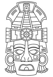 Ancient aztec symbols and their meanings who celebrates for Aztec mask template