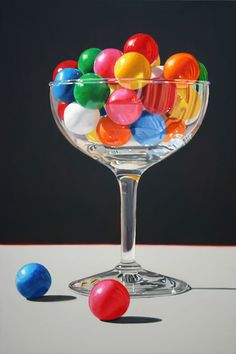 Daryl Gortner Art // Gortner Paintings at Skidmore Contemporary Art Taste The Rainbow, Over The Rainbow, World Of Color, Color Of Life, Color Splash, Color Pop, Illusion 3d, Candy Art, Realistic Paintings