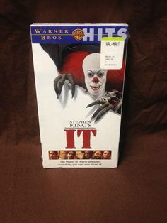 STEPHEN KING'S IT VHS (1990/1998, TIM CURRY, HORROR) NEW & SEALED