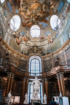 The dream this library in Vienna! Innsbruck, Monuments, Europa Tour, Europe Holidays, Austria Travel, Travel Europe, Baroque Architecture, Road Trip With Kids, Voyage Europe