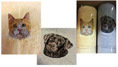 Honden- en kattenkopjes op handdoek