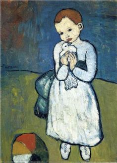 Pablo Picasso (Spanish: 1881-1973) - Child with dove - 1901
