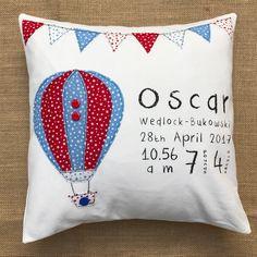 New personalised hot air ballon cushion made...