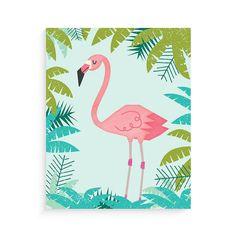 Pink Flamingo! Art Print