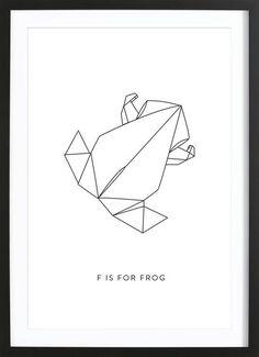 F als Framed Poster door Julia Marquardt | JUNIQE