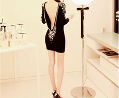 i love black, sequins and a low back