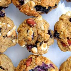 White Chocolate & Blueberry Trail Mix Cookies