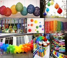 Rainbow decorations for parties