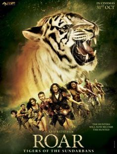 Poster Of Bollywood Movie Roar Tigers of the Sundarbans (2014) 300MB Compressed Small Size Pc Movie Free Download all-free-download-4u.com