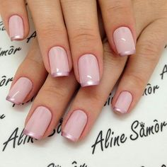 Nail art is a very popular trend these days and every woman you meet seems to have beautiful nails. It used to be that women would just go get a manicure or pedicure to get their nails trimmed and shaped with just a few coats of plain nail polish. Natural Nail Designs, Gold Nail Designs, Elegant Nail Designs, Elegant Nails, Nails Design, French Tip Nail Designs, Art Designs, Design Ideas, Rose Gold Nails