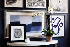 Black, White & Blue: Art in a Crisp Palette