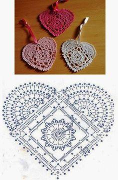 Delicate crochet heart