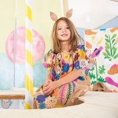 (*^‿^*) Flores e borboletas no vestido Papillon da coleção Kawaii! #fabula #fábula #nossafabula #nossafábula #criança #meninas #amigas #kids #roupainfantil #roupadecriança #novidade #kawaii #cores #colorido #verão #summer