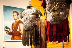 """June 4, 2011 - Beverly Hills, California, United States: Interlocking torso armor of hand-hammered metal and navy suede from the film """"Ben-Hur"""", at the stunning collection of Hollywood's most iconic costumes owned by actress, Debbie Reynolds. Items will be on display for public viewing and auctioned off at """"Debbie Reynolds The Auction"""", which will be held June 18, at the Paley Center for Media in Beverly Hills. Marilyn Monroe's white halterneck dress from The Seven Year Itch was the top…"""