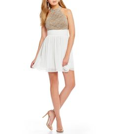 d1a69c1d84b Shop for Jodi Kristopher Lace Bodice Fit and Flare Dress at Dillards.com.  Visit