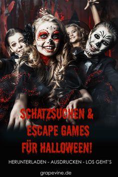 Halloween Crafts For Kids, Halloween Games, Diy Halloween Decorations, Halloween 2019, Halloween Makeup, Happy Halloween, Escape The Classroom, Escape Room, Halloween Birthday