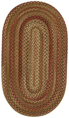 Capel Rugs Manchester Oval Braided Area Rug 2 x 4 Sage Red Hues -- You can find more details by visiting the image link. (This is an affiliate link) Braided Wool Rug, Braided Area Rugs, Circle Rug, Oval Rugs, Red Rugs, Blue Rugs, Hand Tufted Rugs, Modern Area Rugs, Natural Rug