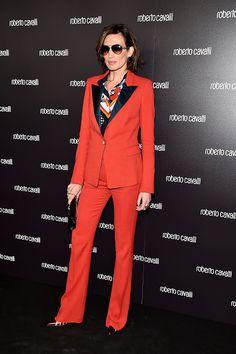 Spanish model Nieves Álvarez wearing Roberto Cavalli Sunglasses during Milano Fashion Week (model RC920S)