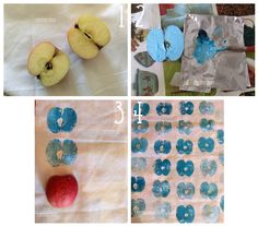 Estampaciones con fruta: Tutorial
