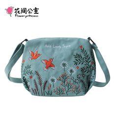 """FLOWER OR DOG PRINT GIRLS LADIES SMALL 8/"""" WIDE SHOULDER MESSENGER BAG OWL"""